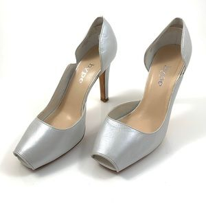 VTG metallic silver leather handcrafted pumps